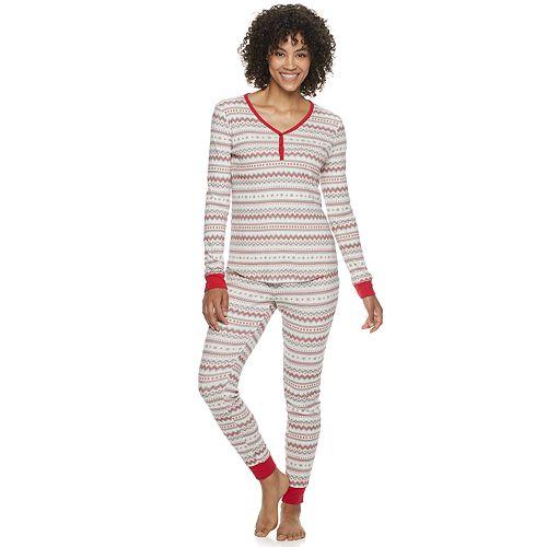 Women's LC Lauren Conrad Jammies For Your Families Fairisle Top & Bottoms Pajama Set