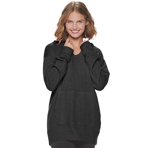 Juniors' SO® Fleece Tunic Hoodie