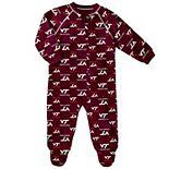 Baby Virginia Tech Hokies Footed Bodysuit