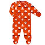 Baby Clemson Tigers Footed Bodysuit