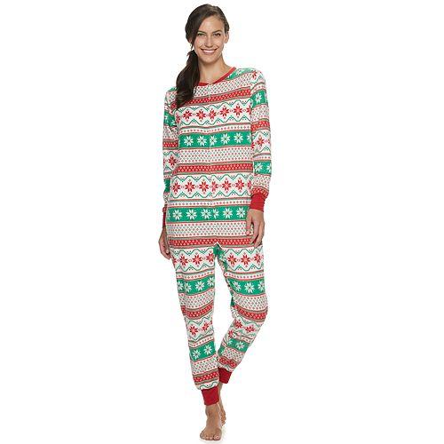 "Women's Jammies For Your Families ""We Jingled"" Microfleece One-Piece Pajamas"