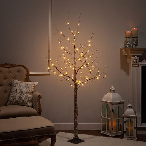 Sterling 6 ft Electric Birch Tree W/ LED Lights
