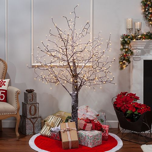 Sterling 6 ft, Electric Snowy Tree W/ LED Lighting