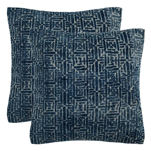 Safavieh Lendon Geometric 2-pack Throw Pillow Set