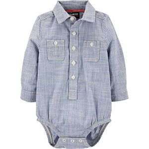 Baby Boy OshKosh B'gosh® Striped Button Front Bodysuit