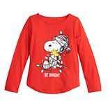 Girls 4-6x Family Fun? Peanuts Snoopy Christmas Graphic Tee