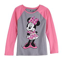 2cb51ddd Disney's Minnie Mouse Girls 4-12 Raglan Graphic Tee by Jumping Beans®
