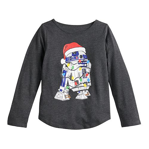 Girls 4-6x Family Fun™ Star Wars R2-D2 Christmas Graphic Tee