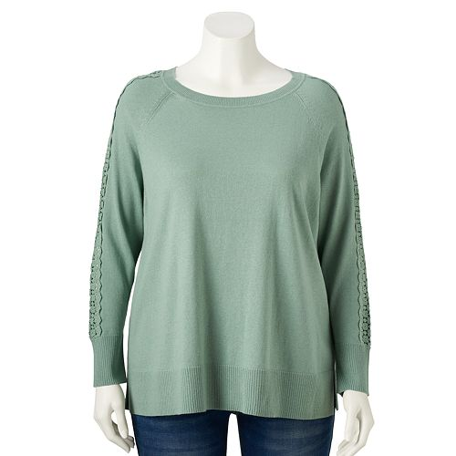 Plus Size LC Lauren Conrad Knitted Pullovers
