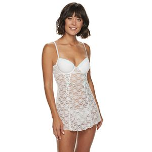 Women's Lunaire Stretch Lace Molded Cup Babydoll