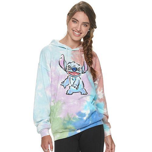 Juniors' Disney Lilo Stitch Hoodie Tie Dye