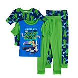 Boys 6-12 Minecraft Never Sleep Tops & Bottoms Pajama Set
