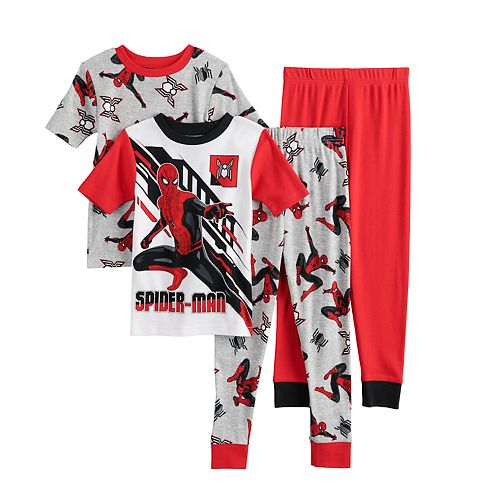 Boys 4-10 Marvel Spider-Man Homecoming 2 Spidey Tech Tops & Bottoms Pajama Set
