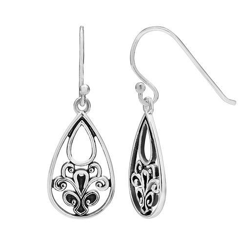 Primrose Sterling Silver Polished Tear Drop Earrings