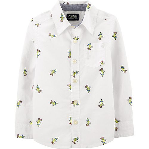 Toddler Boy OshKosh B'gosh® Skating Bananas Button-Front Shirt