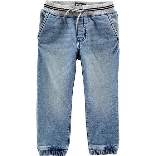 Toddler Boy OshKosh B'gosh® Pull-On Knit Denim Jogger Pants