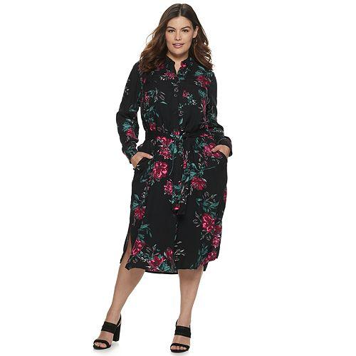 Plus Size EVRI Long Shirt Dress