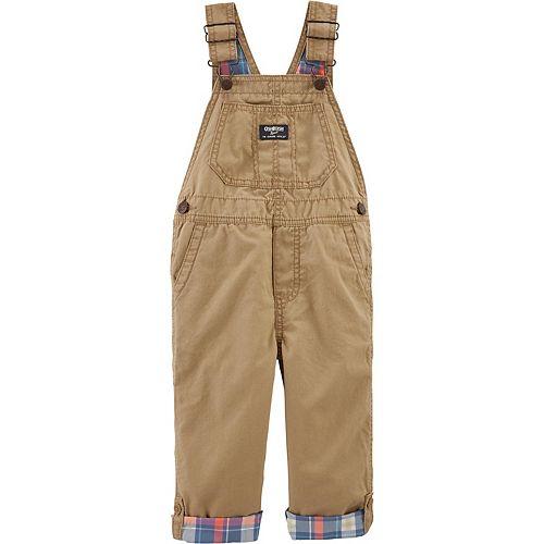 Toddler Boy OshKosh B'gosh® Convertible Canvas Bib Overalls