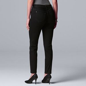 Petite Simply Vera Vera Wang Power Stretch Straight-Leg Jeans