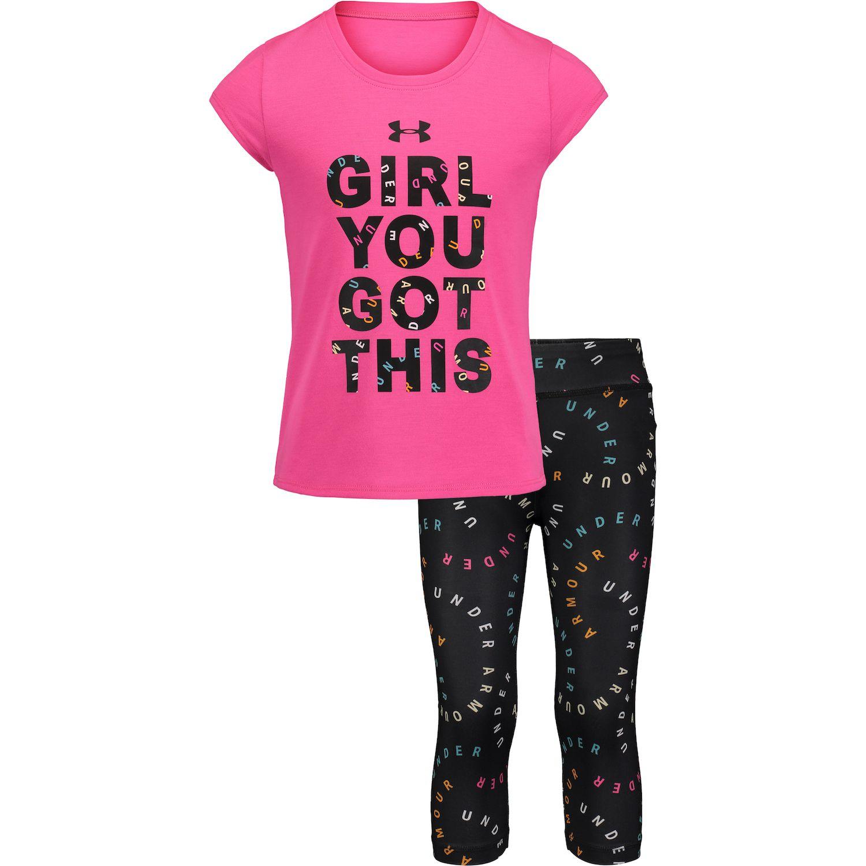New Under Armour Little Girls Tank Top /& Shorts Set MSRP $36.00