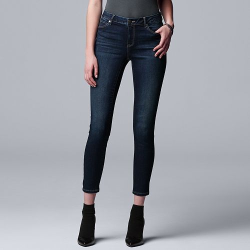 Petite Simply Vera Vera Wang Power Stretch Core Skinny Jeans