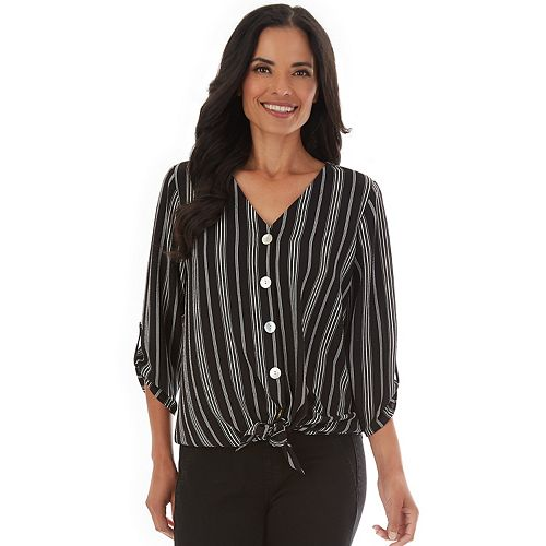 Women's Apt. 9® Washed Twill V-Neck Top