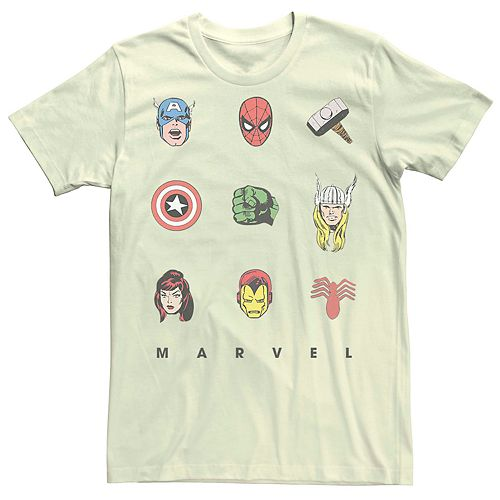 Men's Marvel's Retro Avenger Icons Tee