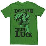 Men's Marvel's Hulk Don't Push Your Luck Tee