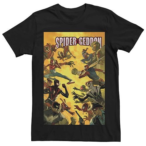 Men's Marvel's Spider-Geddon #3 Comic Cover Tee