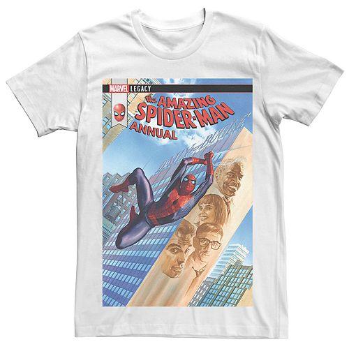 Men's Marvel's Amazing Spider-Man City Comic Cover Tee
