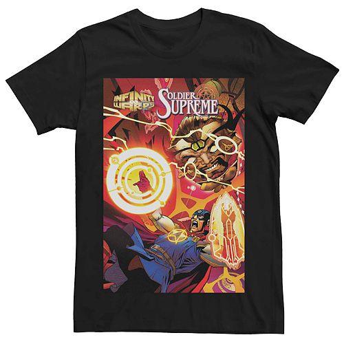 Men's Marvel's Infinity Wars Soldier Supreme #2 Comic Cover Tee