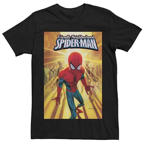 Men's Marvel's Friendly Neighborhood Spider-man Comic Cover Tee