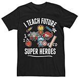 Men's Marvel's Kawaii Teach Future Super Heroes Tee
