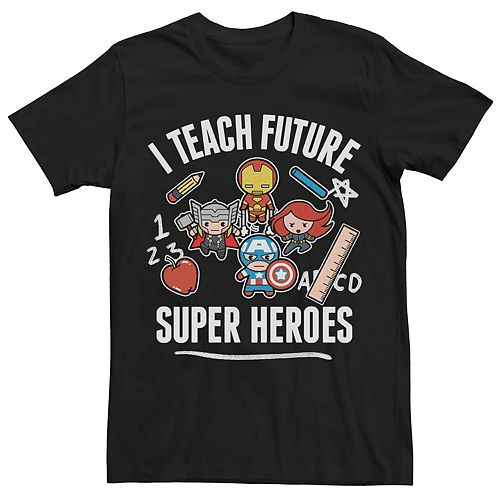 Men's Marvel's Kawaii Teach Future Super Heroes Tee