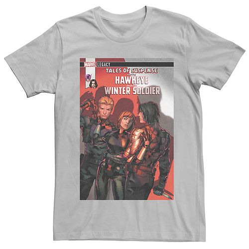 Men's Marvel's Tales of Suspense Hawkeye and Winter Soldier #102 Comic Cover Tee