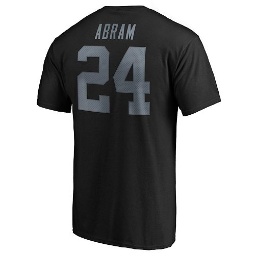 Men's Oakland Raiders Johnathan Abram Authentic Tee