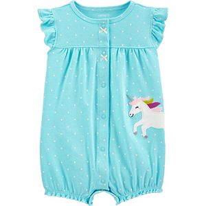 Baby Girl Carter's Unicorn Snap-Up Romper
