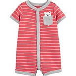Baby Boy Carter's Striped Bear Romper