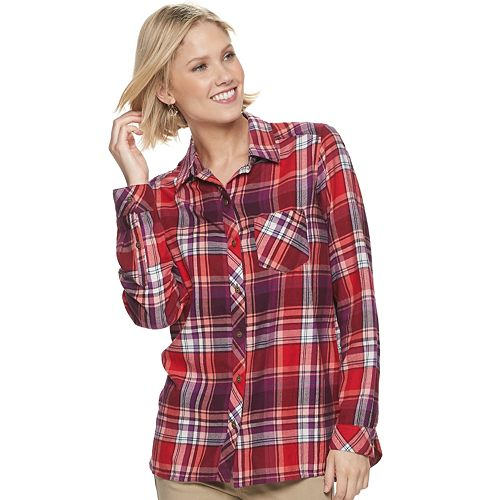 Women's SONOMA Goods for Life™ Flannel Shirt