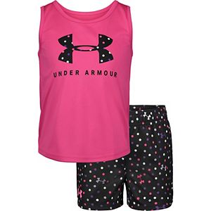Girls 4-6x Under Armour Tank Top & Polka-Dot Shorts Set