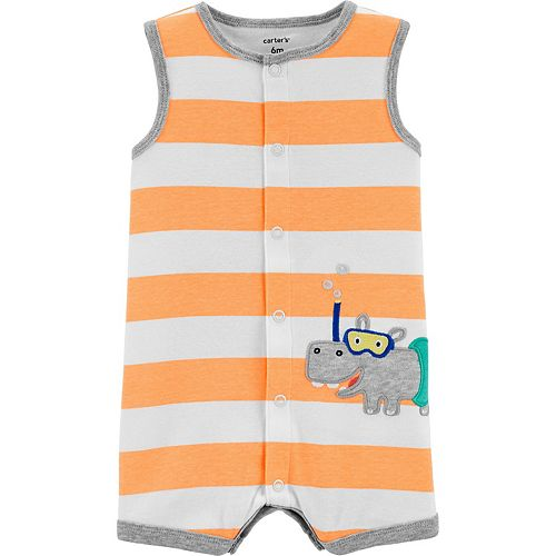 Baby Boy Carter's Hippo Snap-Up Romper