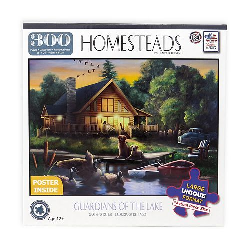 Guardians of the Lake 300-Piece Jigsaw Puzzle with Bonus Poster