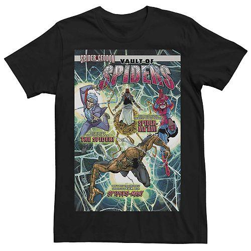 Men's Marvel's Vault Of Spiders #2 Comic Cover Tee