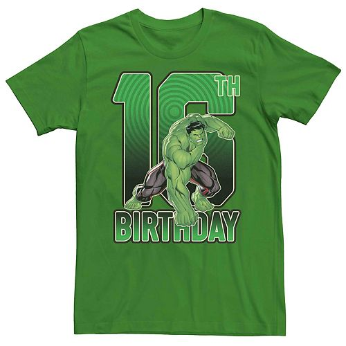 Men's Marvel's Hulk 16th Birthday Tee