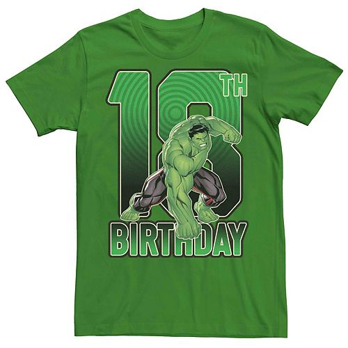 Men's Marvel's Hulk 18th Birthday Tee