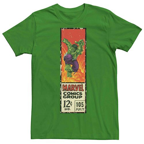 Men's Marvel's Comics Hulk Vintage Label Tee