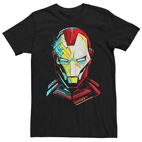 Men's Marvel's Iron Man Colorful Tech Portrait Tee
