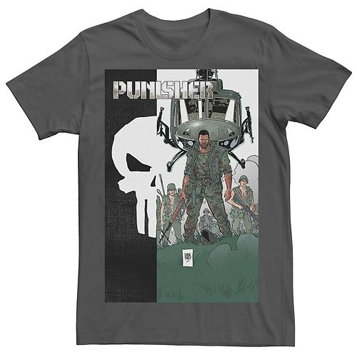 Men's Marvel's Punisher Military Copter Comic Tee