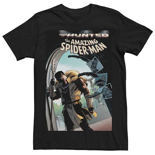 Men's Marvel's Road To Hunted Spider-Man Comic Cover Tee