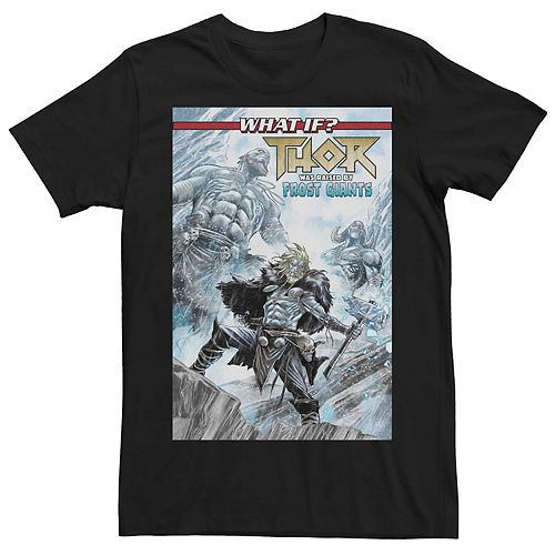 Men's Marvel's What If Thor Was Raised By Frost Giants Comic Cover Tee